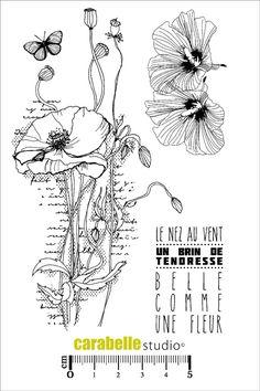 Tampon : Belle comme une fleur - Art Stamp