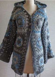 Crochet Patterns For Granny Square Sweaters : Granny Square Cardigan Pattern GRANNY SQUARE CROCHET ...