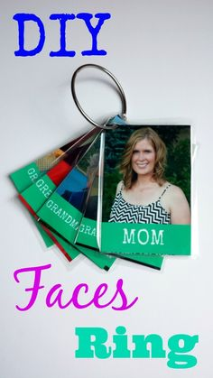 DIY Familiar Faces Ring With Pic Monkey - Perfect for the little ones at home or in the classroom!