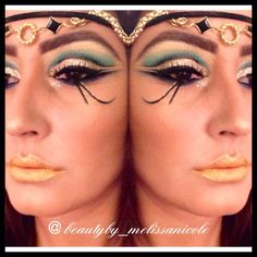 (153) Egyptian makeup... Okay not for really wearing out but reminds me of a late sunset in Egypt | Make up. Don't Break Up. | Pinterest