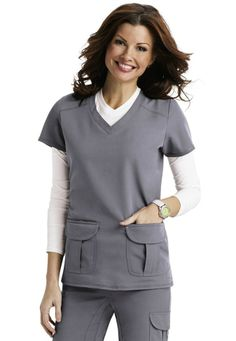 Scrubs & Beyond sporty v-neck scrub top. - Scrubs and Beyond