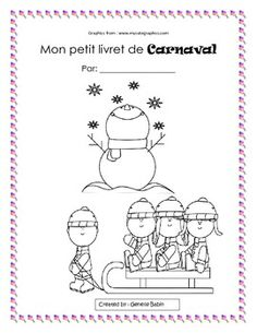 Browse over 20 educational resources created by Encore Teaching Resources - The Encore Teacher in the official Teachers Pay Teachers store. French Teacher, Teaching French, Theme Carnaval, Quebec Winter Carnival, Grade 1 Reading, French Crafts, French Worksheets, Language Immersion, Learning A Second Language