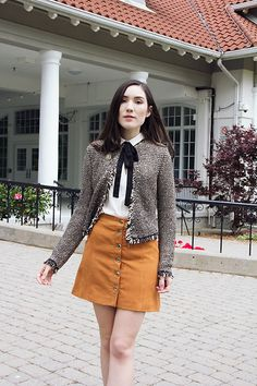 More looks by Carolina Pinglo: http://lb.nu/carolinapinglo  #chic #elegant #preppy #girly #suadeskirt