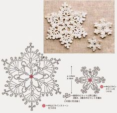 Crochet a few pretty little snowflakes for Christmas this year! More Patterns Like This!