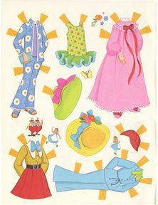 Alice In Wonerland Paper Dolls - Alice's Outfits 2