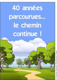 Carte 40 ans, le chemin continue pour envoyer par La Poste, sur Merci-Facteur !