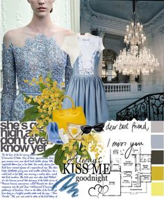 """""""Blue Heaven"""" by martinastella ❤ liked on Polyvore"""