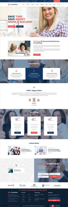 Consuloan is clean and modern design PSD template for #business #consulting and professional services website with 8 homepage layouts and 40 layered PSD pages to download click on image.