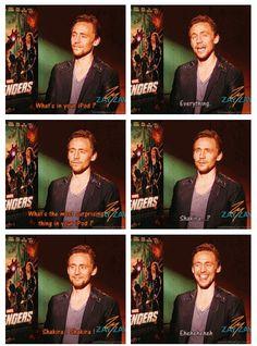 Tom listens to, Shakira http://pinterest.com/yankeelisa/marvel-s-the-avengers-4/ *adds to playlist*