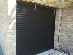 Our RSG5000 Powder Coated Black Shutter fitted in London.