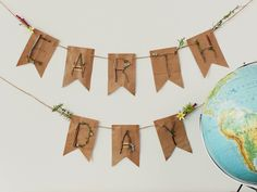 Pretty Earth Day Banner that could be made with their machine or a pair of scissors if you don't have one :) Happy Earth Day! Earth Craft, Earth Day Crafts, Earth Day Information, Diy Craft Projects, Crafts For Kids, Earth Day Projects, Earth Day Activities, Arbour Day, Event Banner