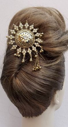 Vintage hair comb Indian Bollywood hair accessory hairpin headpiece (AAG). $25.00, via Etsy.