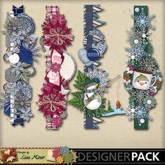 Flaky Friends Digital Scrapbook Page borders, scrapbook page cluster, scrapbook cluster, snowman cluster, winter scrapbook cluster, winter scrapbook