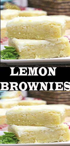 Lemon Desserts, Lemon Recipes, Just Desserts, Sweet Recipes, Delicious Desserts, Yummy Food, Tasty, Brownie Recipes, Cookie Recipes