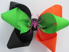 A Huge Halloween Hair Bow by TutuLulus on Etsy, $6.25