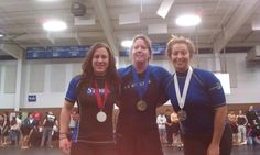Another great picture of local women competing at a US Grappling tournament.  Our own Ashley placing 2nd in this division.