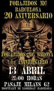 Crónica del 20 Aniversario de Forajidos MC Barcelona. Si te lo perdiste, ... Gemma Encinas te explica como fue, fotos, que sucedió, que se encontró, …
