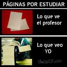 Lo que ve el #profesor y lo que veo #yo... #docsity #estudiante #humor