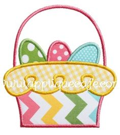 Loopy Easter Basket Applique Design