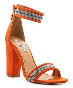 c2cd483a516 Orange Shimmer Skylar Sandal  zulilyfinds Orange Heels