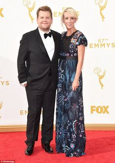 James Corden scrubs up well in a tuxedo at the Emmy Awards #dailymail