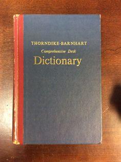 Thorndike Barnhart Comprehensive Desk Dictionary (1962,Hardbound)