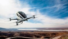 The Dubai Roads and Transportation Authority says the Ehang 184 passenger-carrying drone could be flying people around the UAE's biggest city starting in July Dubai, Avion Drone, Nevada, Design Transport, E Mobility, Focke Wulf, Flying Drones, Flying Car, Bicycles