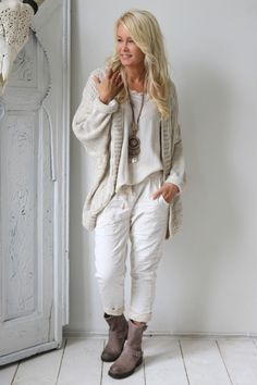 Perfect Jeans JOGGER, BEIGE - Stretch Pants - BYPIAS