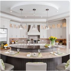 Kitchen Remodel Ideas With Islands 25 best kitchen island makeover ideas on pinterest peninsula kitchen diy painting cabinets and country kitchen Love The Circular Island Kitchen Remodelingremodeling Ideaskitchen Counterskitchen Diningkitchen Islandscurved Kitchen