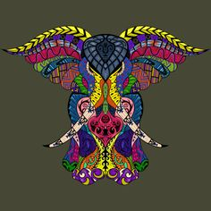eb26d305f MK Tribal Elephant (Colored) T Shirt By Iamkobold Design By Humans