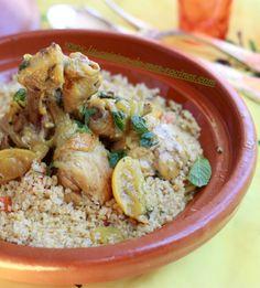 poulet au citron confit menthe #pouletaucitronconfit #cuisinealgérienne #Maghreb
