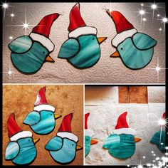 An van der Knaap Stained Glass Ornaments, Stained Glass Birds, Stained Glass Christmas, Stained Glass Suncatchers, Stained Glass Crafts, Faux Stained Glass, Stained Glass Panels, Custom Stained Glass, Stained Glass Designs