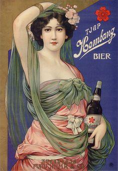 Kembang Beer (Sakura Beer export label), 1912-1916