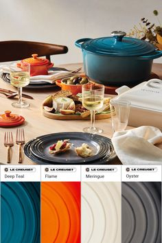 Looking for Le Creuset color combinations and kitchen color ideas? Here are some color pairing ideas and suggestions for how to store Le Creuset on your kitchen shelves! Kitchen Shelves, Kitchen Pantry, Color Pairing, Color Combinations, Kitchen Inspiration, Kitchen Ideas, Le Creuset Colors, Baking Accessories, Deep Teal