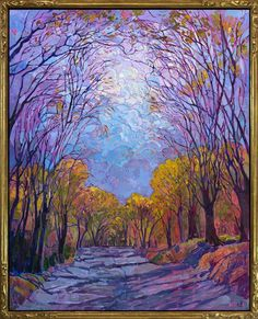 Embroidered Light - Erin Hanson Prints - Buy Contemporary Impressionism Fine Art Prints Artist Direct from The Erin Hanson Gallery Erin Hanson, Marc Chagall, Modern Impressionism, Impressionist Art, Beautiful Landscape Paintings, Landscape Art, Large Painting, Light Painting, Painting Art