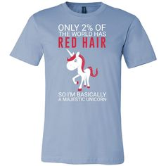 Hobbies - only 2% of the world has red hair - men short sleeve t shirt - TL00834SS