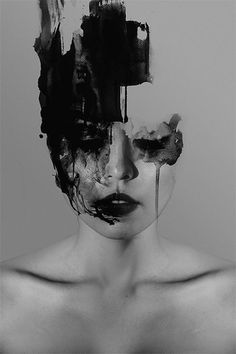 PHOTOGRAPHY AND PAINT PORTRAITS - Philippine artist Janus Miralles makes very beautiful abstract portraits by mixing photography and paint as a way to create. Often in black and white, faces are erased with a certain darkness, as if they were burnt.: