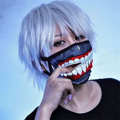 Details about Kaneki Ken Face Masks Zipper Cycling Anti-Dust Anime Tokyo Ghoul Cosplay – Face Diy Mask Tokyo Ghoul Cosplay, Ken Tokyo Ghoul, Diy Mask, Diy Face Mask, Face Masks, Face Diy, Mascara Kpop, Estilo Harajuku, Face Mask Price