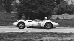 Hap Sharp drives his Chaparral 1 during the 1962 Sebring 12 hours. Sharp would win his class. Ken Breslauer photo.