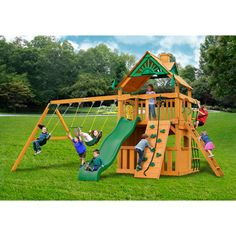 Get ready for excitement on the Chateau II Clubhouse AP Playset by Gorilla…