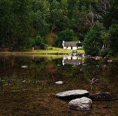 Cottage on the bank of Loch an Eilein
