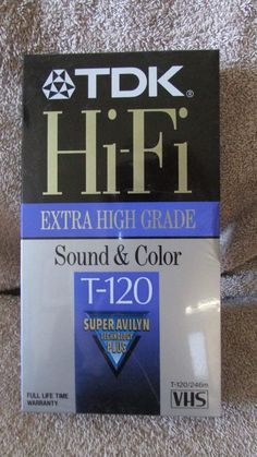 TDK Hi-Fi Extra High Grade T-120 Blank VHS Tape - New!!! (12 T) in Consumer Electronics, TV, Video & Home Audio, TV, Video & Audio Accessories | eBay