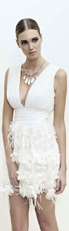 Cengiz Abazoglu white wonder cocktail dress