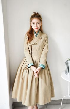Korean Traditional Clothes, Traditional Fashion, Traditional Dresses, Modest Fashion, Hijab Fashion, Korean Fashion, Fashion Outfits, Korea Dress, Modern Hanbok