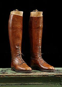 Vintage leather safari boots