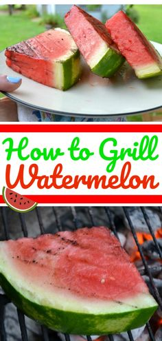 Learn how to grill watermelon and all the different ways to make it delicious with unique toppings and more! Watermelon Dessert, Grilled Watermelon, Grilled Fruit, Watermelon Recipes, Vegetarian Grilling, Healthy Grilling Recipes, Cooking Recipes, Sweets Recipes, Fruit Recipes