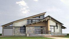 Проект современного одноэтажного дома Шале-Модерн 415 Возможен вариант исполнения из массивных деревянных панелей Feel Wood