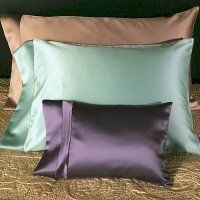 Satin Serenity Pillowcase by Satin Serenity. $35.00. Get your beauty sleep....on a luxurious satin pillowcase! Recommended by top beauty experts from hairstylists to cosmetic surgeons, sleeping on a satin pillowcase is a necessary luxury for those who want to maintain beautiful hair and skin. Satin Serenity's pillowcases are made of the finest Peau de Soie satin, and are famous for reducing hair damage, minimizing sleep lines on the face, and maintaining moisture balance in the ...