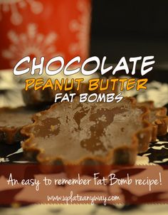 Chocolate Peanut Butter Fat Bombs » Low Carb » Gluten Free | Up Late Anyway | Low Carb Recipes http://papasteves.com/blogs/news/11304001-fiber-protein-fat-satiety-feel-fuller-longer-slow-down-sugar-absorption Low Carb Deserts, Low Carb Sweets, Paleo Sweets, Ketogenic Recipes, Keto Recipes, Keto Desserts, Ketogenic Diet, Keto Snacks, Weightwatchers Recipes