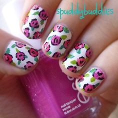 My Whimsy floral nail art! Check out my blog for more pics.